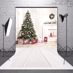 1.5x2.1m Christmas Wooden Ground Photography Vinyl Background Studio Backdrop