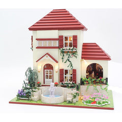 DIY Doll Houses Wooden Doll House Unisex 3d Dollhouse Furniture Kids Toy Miniature Kit Craft