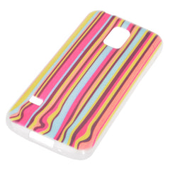 Colored Drawing Vertical Stripes Pattern Case for Samsung S5 mini