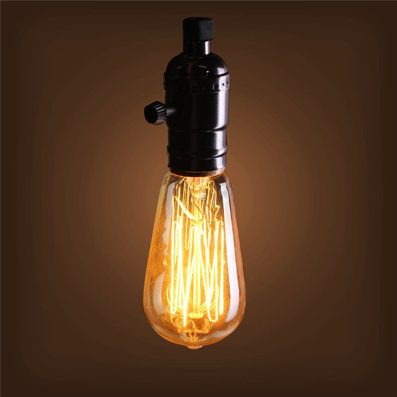 40W E27 ST58 Edison Bulb Antique Filament Lamp Retro Vintage Light 220V/110V