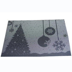 KCASA Placemat Fashion Pvc Dining Table Mat Christmas Disc Pads Bowl Pad Coasters Waterproof Table Cloth Pad Slip-Resistant Pad
