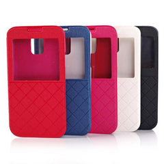 Grid Design View Window Case Cover For Samsung Galaxy S5 I9600