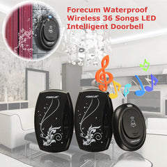 Waterproof Forecum 36 Songs LED Wireless Remote Control Intelligent Doorbell Bell