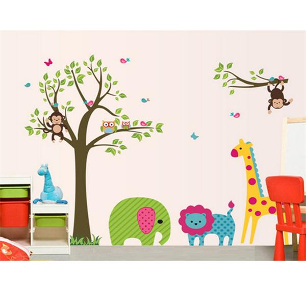 Wil je alles weten over Removable Vinyl Animal Monkey Giraffe Jungle Wall Sticker Decal Paper Decor? Hier lees je alles over Home and Garden Room Decor Sticker