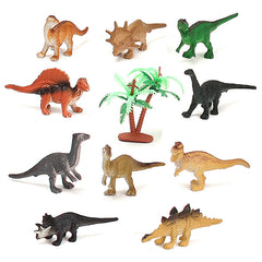 12PCS Set Mixed Dinosaur 65x15x40mm Assorted Figures Prehistoric Toys Playset Party Gift