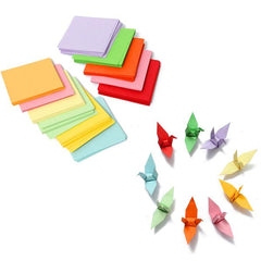 520pcs 7x7cm Brand NEW Origami Square Paper Double Sided Coloured Sheets Craft DIY