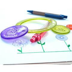 Wheels Spiral Draw Set DIY Geometric Stencil Design Draw Kid Art Craft Creative