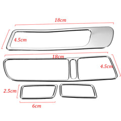 Stainless Decoration Window Mirror Switch Button Trim Cover Kit For VW Tiguan