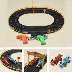 HZ Wire Control Electromagnetic Formular Car Track Toy Double Competitive Toys