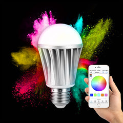 ARILUX® AL-B01 E27 7W RGBW Bluetooth 4.0 Dimmable LED Smart Bulb for iPhone iPad and Android Phones