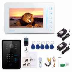 7inch LCD Wired Video Door Phone Doorbell Entry Intercom System Touch Key IR Camera