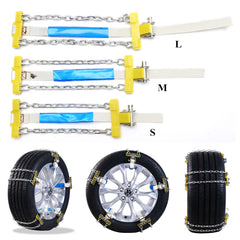 Universal Car Auto Anti-skid Steel Chains Skid Belt Snow Mud Sand RainTire Chain