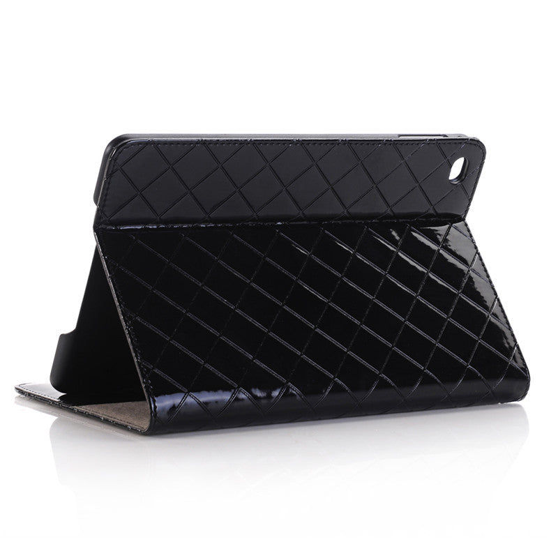 WLD A007 Grid Pattern Shell Flip PU Leather Protective Cases For iPad Mini 4