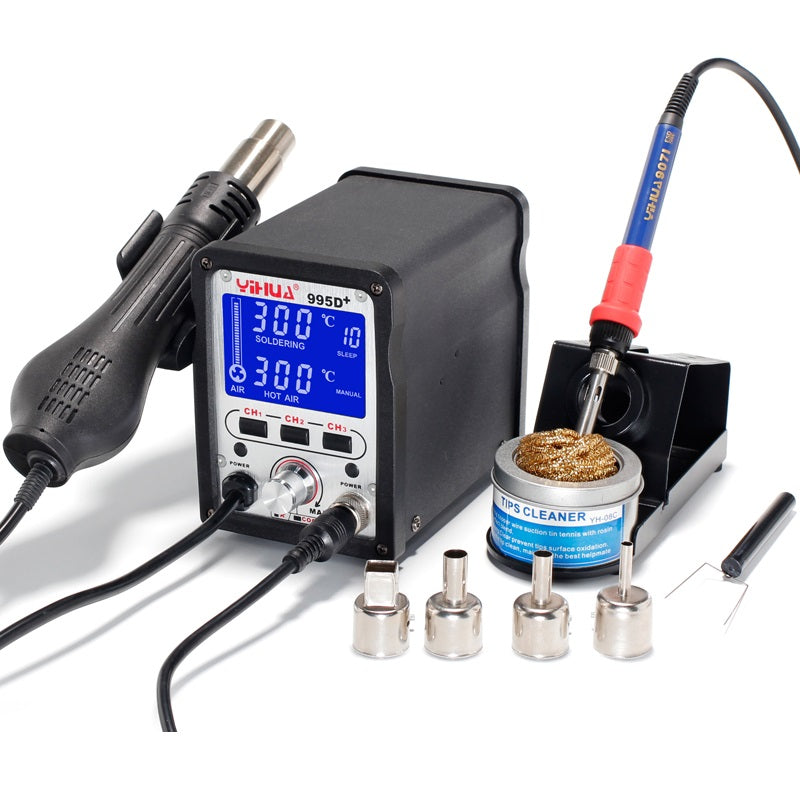 YIHUA 995D 2 In 1 Soldering Station Hot Air Gun Soldering Iron Repair Desoldering Welding 110V-220V