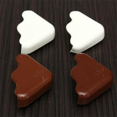 2PCS Baby Safe Cushion Corner Protector Anti Crash Desk Table Guard Cover Edge Coffee White