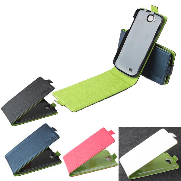 Original Contrast Color PU Leather Protective Case For THL W8 W8s