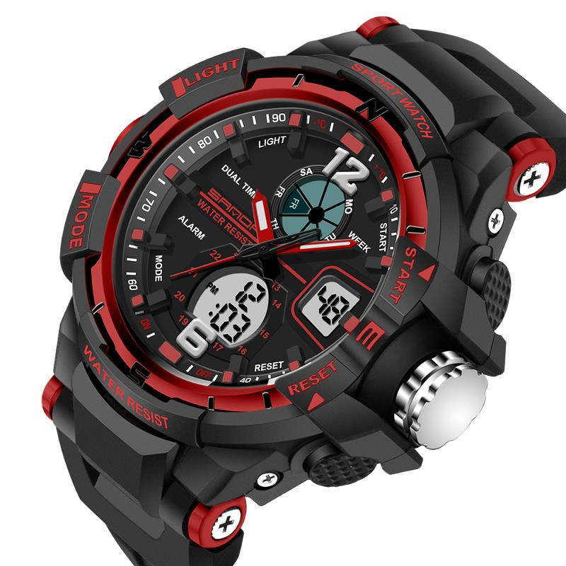 Wil je alles weten over SANDA 789 Fashion Children Digital Sport Watch Multifunction Dual Display Boy Girl Watch? Hier lees je alles over Dual Display Watches Men Watches