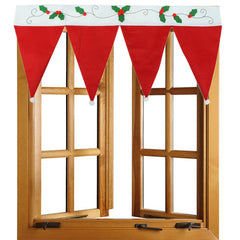 Christmas Door Window Drape Curtain Decorative Party Home Shop Decoration