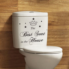 Removable Vinyl Bathroom Toliet Sticker Seat Decal Quote Lettering