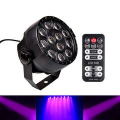 Digoo DG-ST1 12 LED DIY Voice Control DJ Purple Light Home UV LED Lamp Bar Wall Washer Black Light for Home Stage KTV Party Pub Club Decor with Remote Control