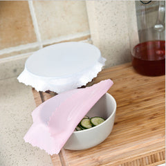 Silicone Bowl Cover Wrap Refrigerator Microwave Oven Seal Reusable Stretchable Food Container Cover