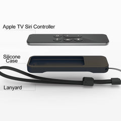 Non-Slip Protective Remote Silicone Cover Case for Apple TV 4 Siri Controller