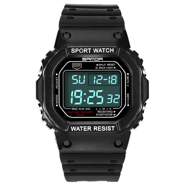 Wil je alles weten over SANDA 329 Fashion LED Display Men Watch Waterproof Sport Digital Watch? Hier lees je alles over Jewelry and Watch Quartz Watches