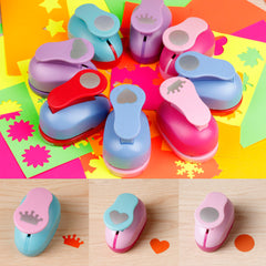 Mini Paper Punch Hole Puncher Shape DIY Scrapbook Paper Cards Art Cutter Tool