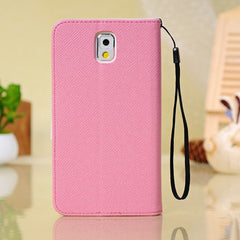 Card Stand Synthetic Leather Protective Case For Samsung Galaxy Note 3