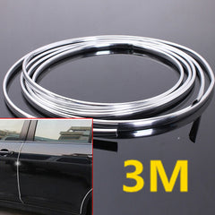 Chrome Moulding Trim Strip Car Door Edge Scratch Protector Cover