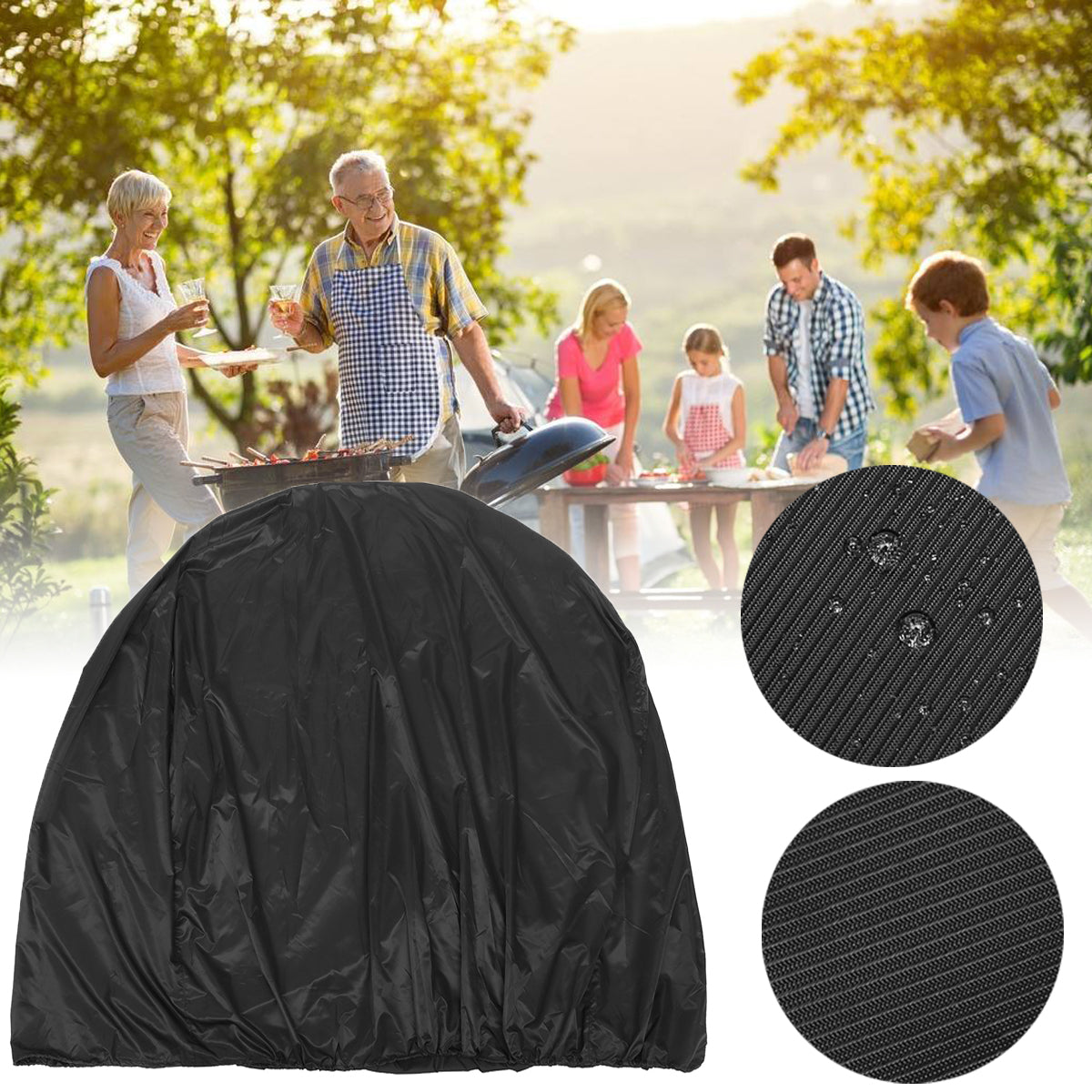 134x64.7x149.3cmBBQGrillCoverOutdoorCamping Picknick Waterdichte Stofregen UV Proof Protector