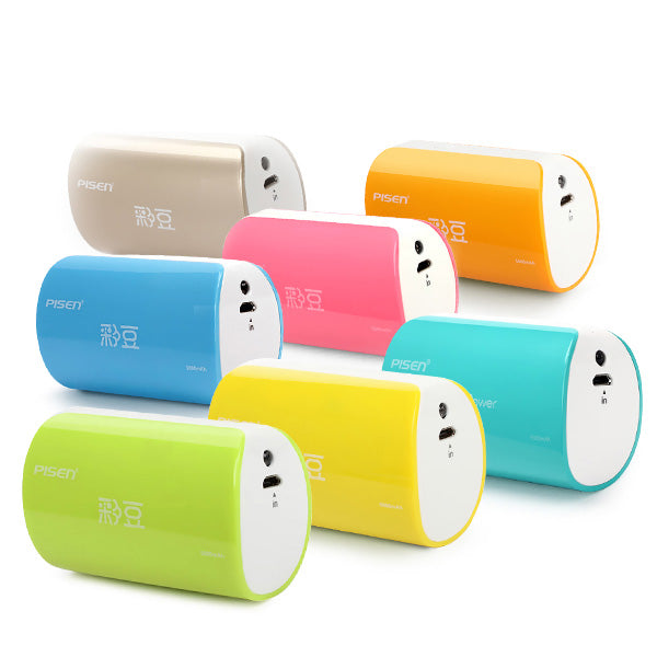 Pisen Funny 5000mAh Power Bank External Battery For Tablet iPhone