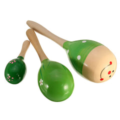 Mini Wooden Ball Children Boby Toys Percussion Musical Instruments Sand Hammer