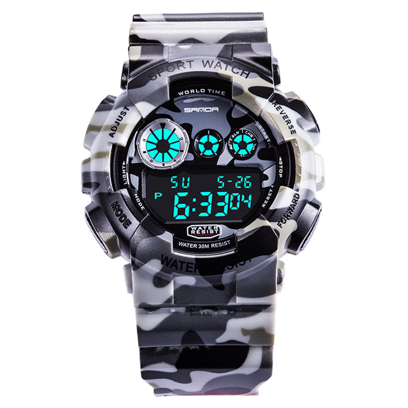 Wil je alles weten over SANDA 289 Digital Watch Camouflage Style Military Waterproof Men Sport Wrist Watch? Hier lees je alles over Jewelry and Watch Quartz Watches