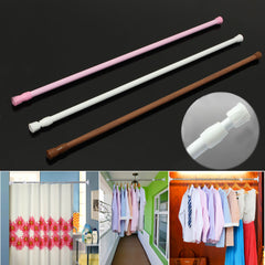 60-110cm Extendable Adjustable Spring Tension Curtain Rod Pole Telescopic Pole Shower Curtain Rod