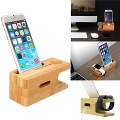 2 In 1 Desktop Stand Holder Charger Cord Docking Station For Apple Watch iPhone