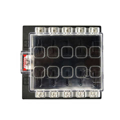 JZ5501 Jiazhan Car 10 Way Air Condition Fuse Box 10 Road Circuit Protect Fuse Block Holder Cleaer