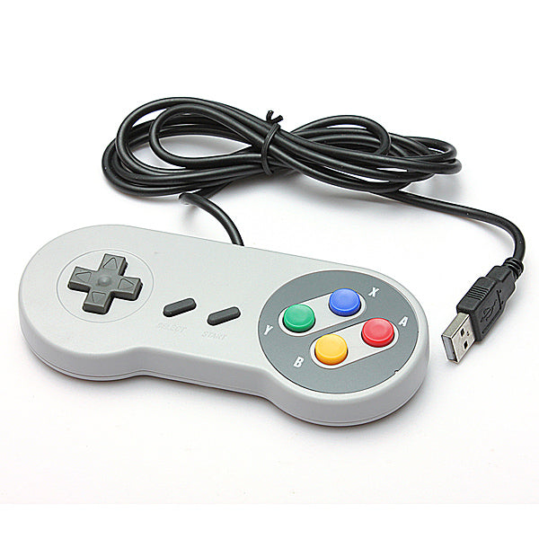 SNES USB Famicom Colored Super Nintendo Style Controller for PC-MAC
