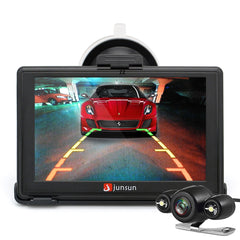 Junsun D100S 7 Inch Car 3D GPS Navigation Mointor Bluetooth w/Rearview Camera Free Map Touch Scree