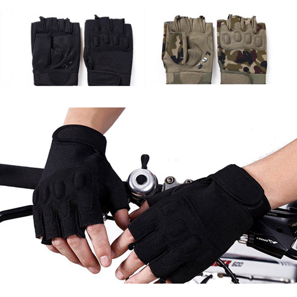 Wil je alles weten over Men Outdoor Tactical Half Finger Gloves Sports Gym Anti Skid Gloves Camouflage Black? Hier lees je alles over Cycling