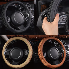 38cm Auto Car Steel Ring Wheel Cover Universal Soft Anti Slip Car Decoration