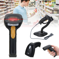 POS PC USB Portable Automatic Laser Scan Bar Code Reader Scanner With Stand