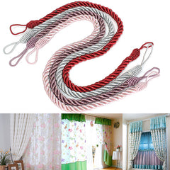 Curtain Tassels Tying Rope Tie Back Handmade Curtain Cord Home Window Decor 4 Colors