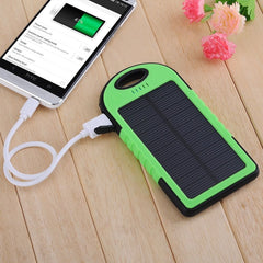 5000mAh External Solar Power Bank Battery Charger Dual USB With Charging Cable For Mobile Phone