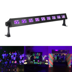 Digoo DG-ST2 UV LED Bar with 9 LEDx3W Black Light Metallic Black Lamp Home Stage KTV Party Pub Club Decor