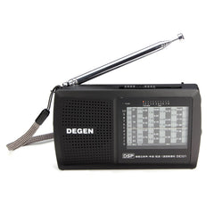 DEGEN DE321 FM Stereo MW SW Radio DSP World Band Receiver