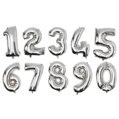 Gold Silver Number Foil Balloon Wedding Birthday Party Decoration