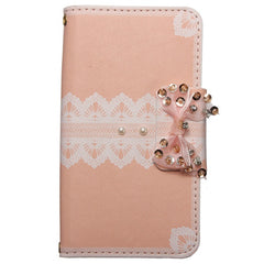 Lace Bowknot Wallet Flip Leather Case For Samsung Galaxy S5 i9600