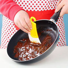 Silicone Cleaning Scraper Spatula Brush Kitchen Pan Cleaning Brush