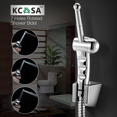 KCASA™ Hand Held Bidet Shower Toilet Sprayer with Double Control Three Way Angle Water Valve